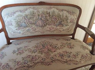 Louis XV Tapestry Sofa - Courting Couples In Garden, Perfect, Free Collection