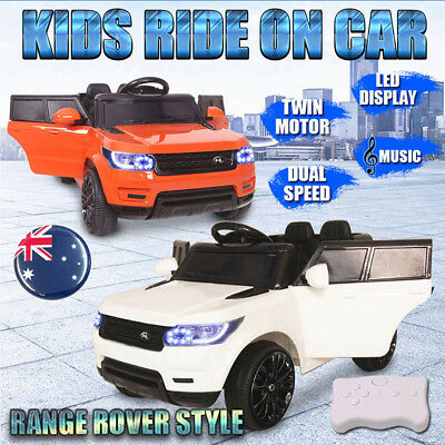 Electric Kids Ride On Car Range Rover Style Children Remote Battery Dual Speed