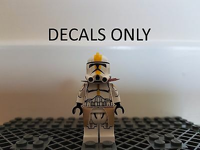 Custom LEGO Star Wars Clone WATERSLIDE DECAL 327th Star Corps Trooper