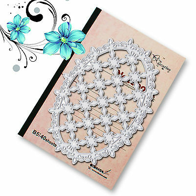 Metal Retro Flower Frame Cutting Dies Stencils Scrapbooking Album Embossing DIY