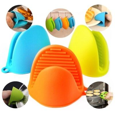 Hot 1/2pcs Silicone Heat-resistant Oven Baking Glove Pot Tool Holder Kitchen