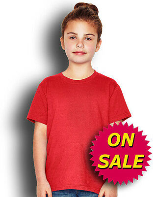 Kids Keya Lightweight Plain T-shirt 100% Cotton Blank Youth Tee Size XS-XL