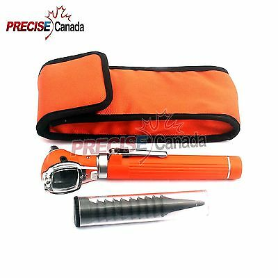 Fiber Optic Otoscope Mini Pocket Orange Medical ENT Diagnostic Set