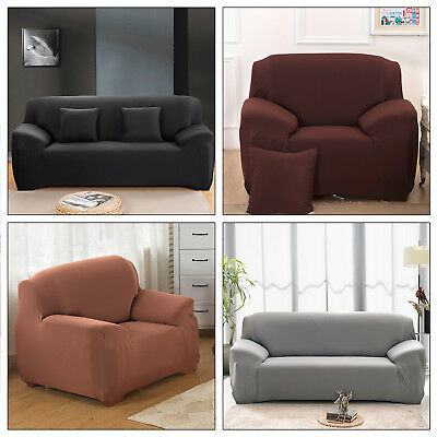 Nice Sofa Couch Slip Over Fit Stretch Cover Elastic Fabric Fit Settee Protector