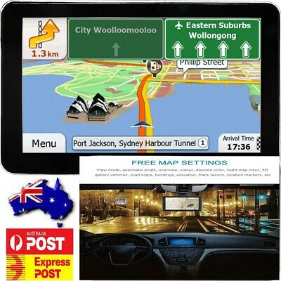 "7"" GPS Navigator 16G Car Truck/Van AU+NZ+EU Map 3/2D Sunshade AU STOCK"