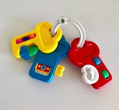 Fisher Price Vintage Baby Toy Keys Activity Centre #71084 1994 Rattle Teether