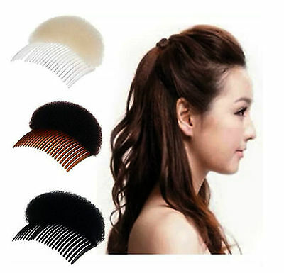 Beehive Shaper Hair Styler Bumpits Bump Foam On Clear Comb