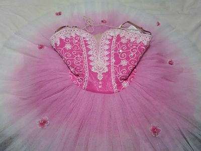 Girls Pink Classical Ballet Performance Tutu -- Size 12