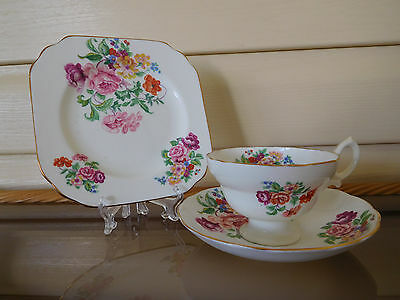 Hammersley Floral Trio C91 Made In England