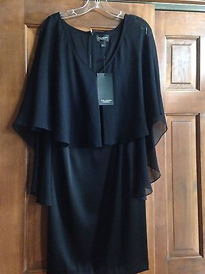 NWT St John Couture Black Evening /Cocktail Dress Size 2 Lovely