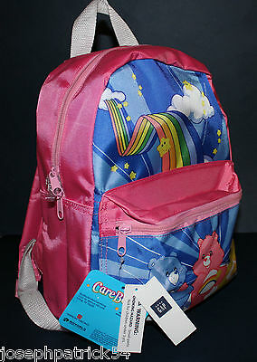 """baby Gap NWT Care Bears PINK 14"""" Backpack for School Play Daycare Travel"""