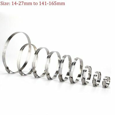Jubilee Hose Clips Fuel Hose Pipe Clamps Worm Drive 304 Stainless Steel All Size