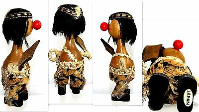 "Vintage Collectible Wooden Toy  Wood Doll 6 "" Tall Japan Made"