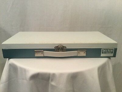 Smith-Victor Vintage Slide Coin Storage Case Metal Box 35mm 150 Compartments