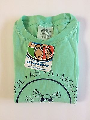 Maine Cool As A Moose T Shirt Girl Boy Youth  x small NWT
