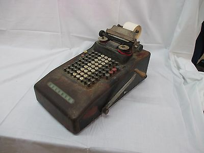 Antique steampunk Victor Mechanical Printing Adding Machine 1920's