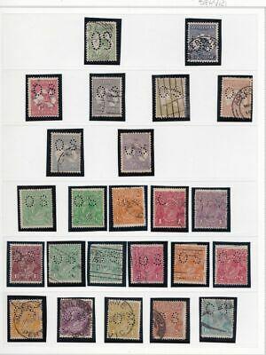 1913-30 AUSTRALIA - Official Stamps lot of 73 values USED