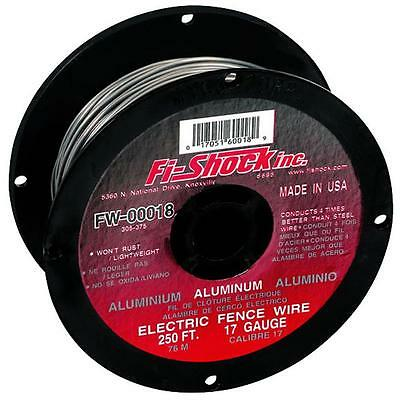 Fi-Shock 250-ft Heavy Duty Aluminum Wire Sturdy 17-Gauge Electric Fencing Kits