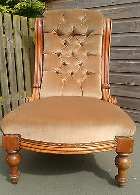 Antique. Victorian or Edwardian Bedroom / Occasional / Hallway Armchair.