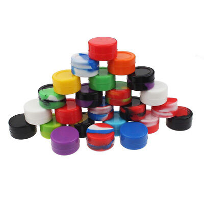 12Pcs 5ML Silicone Container Nonstick Jars Dab For Concentrate Oil Wax Healthy