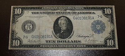 Series of 1914 $10 Large Size Federal Reserve Note - Chicago
