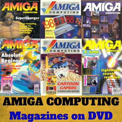 AMIGA COMPUTING MAGAZINE! Collection 117 ISSUES! COMMODORE, Retro Gaming on DVD