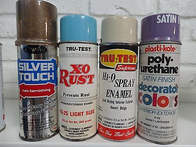 Lot of 4 Vintage Spray Paint Cans