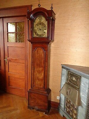 Fine 18Th Century Mahogany Longcase Clock With A Samuel West Movement. Superb.