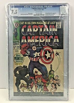 Captain America #100 1st issue Kirby cover & art CGC 7.5 OW Pages