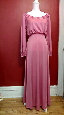 Women's Dark Pink Gown, Vintage, Size Small, Long sleeves, Excellent Condition