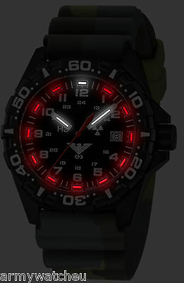 Men's Army Military Watch KHS Watches Reaper Trigalights© Date Silicone Bracelet