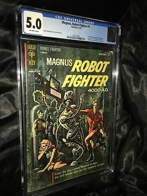Magnus Robot Fighter #1 CGC 5.0 1963 Gold Key Russ Manning Lowest Price!