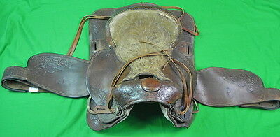 Vintage US Carved Leather Horse Saddle