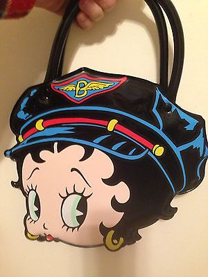 Vintage 1990s Biker Betty Boop vinyl Purse Handbag Clutch