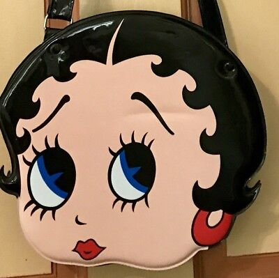Vintage 1990s Betty Boop vinyl Purse Handbag Shoulder Strap