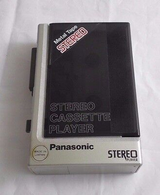 Panasonic personal cassette player with Case RQ-J75 Plays Metal tapes Retro 80s