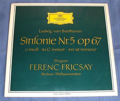 Dgg Stereo Tulip Ed1 * Fricsay* Beethoven * Symphonie Nr 5 * Slpm 138813.
