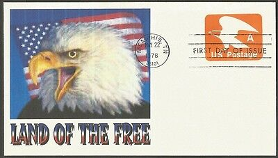 Us Fdc 1978 Embossed A Postage  Land Of The Free First Day Of Issue Cover