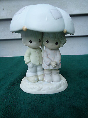 Precious Moments He Is Our Shelter From The Storm 1997 Porcelain Figurine