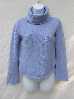 1990s cowl neck blue fleece pullover sweater by Gap Jrs / XXL 14-16