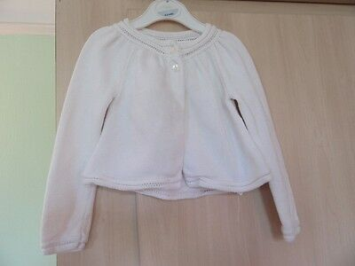 18-24m: Pretty white cardigan: Perfect for summer: 100% cotton: Baby Gap