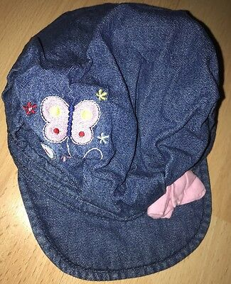 Girls blue sun hat for 12-24 months (1-2 years) from F&F - excellent condition