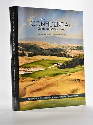 Confidential Guide to Golf Courses vol 3, Tom Doak, signed!! Great investment