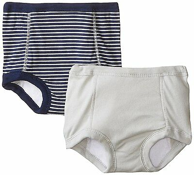 Gerber 2 Pack Training Pants with Peva Lining, Boys, Striped Sports, Size 2T-3T