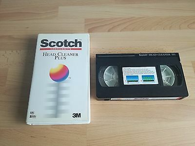 Scotch VHS Head Cleaner Plus Video 3M Retro Tape Great Condition