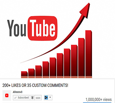 YouTube Custom Comments On Your Video -35 (Manually Placed) or 200 YouTube/Likes