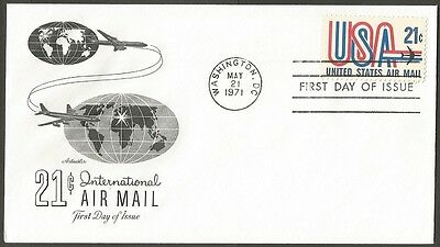 Us Fdc 1971 21C International Air Mail Stamp Artmaster First Day Of Issue Cover