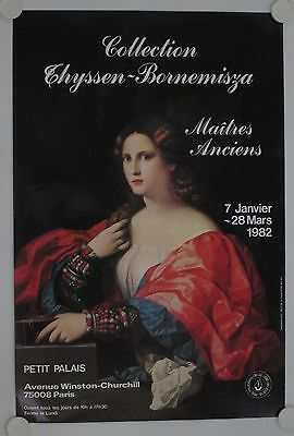 Affiche Collection THYSSEN-BORNEMISZA 1982 Exposition Petit Palais