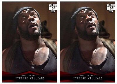 2x FAN'S CHOICE II TYREESE WILLIAMS The Walking Dead Card Trader Digital