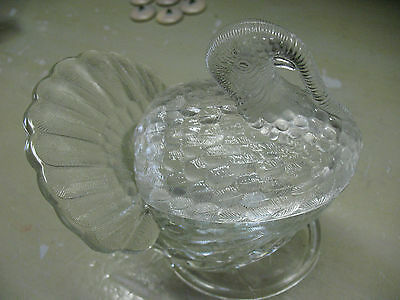 L. E. Smith  Turkey   Bowl & Lid  Candy  Nuts   Dish 7.5'' Tall  Vintage Orig.